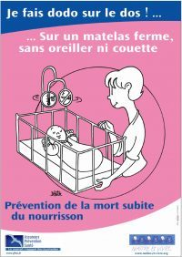 Affiche prévention mort subite du nourrisson