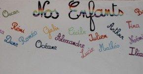 fresque des prénoms de nos enfants