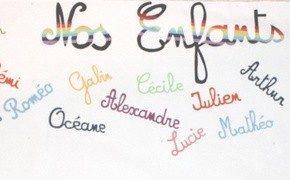 Une frise avec les prénoms de nos enfants