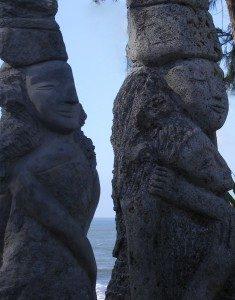 sculptures polynésiennes
