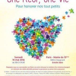 """Un immense bouquet : """"Une fleur, une vie"""" le 14 mai 2016 à Paris"""