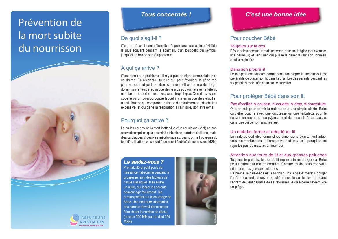 Des conseils pour que faire baisser le risque de mort subite du nourrisson