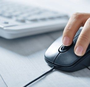 female hands and keyboards