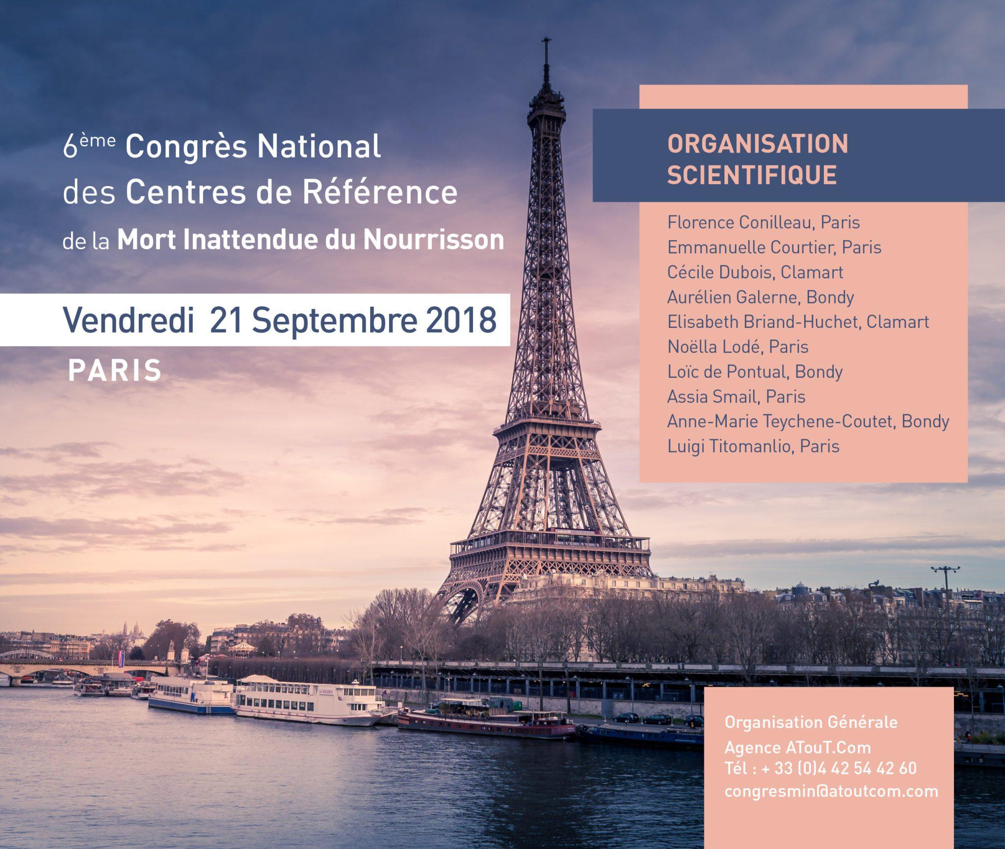 Congrès ANCReMIN à Paris Le Vendredi 21 Septembre 2018
